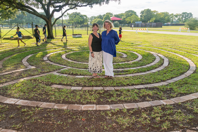 Two People on the Labyrinth