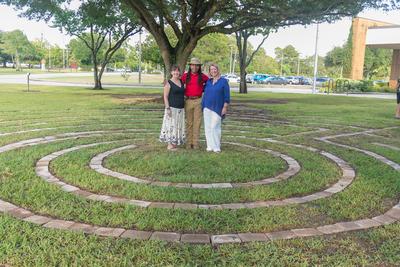 Three People On The Labyrinth