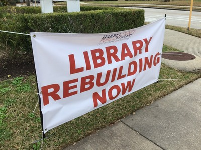 """Library Rebuilding Now"""
